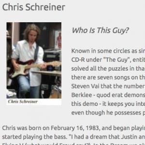 Chris Schreiner: Who Is This Guy? (Jun 2006)