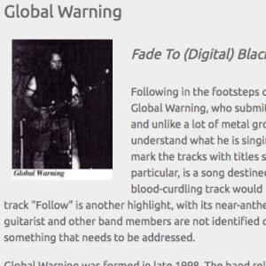 Global Warning: Fade To (Digital) Black (Apr 2004)