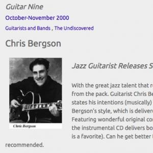 Chris Bergson: Jazz Guitarist Releases Second CD (Oct 2000)