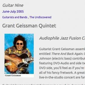Grant Geissman Quintet: Audiophile Jazz/Fusion CD/DVD (Jun 2005)