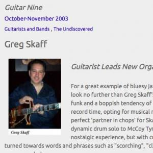 Greg Skaff: Guitarist Leads New Organ Trio (Oct 2003)