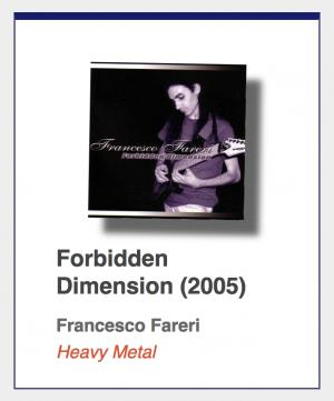 "Francesco Fareri ""Forbidden Dimension"""