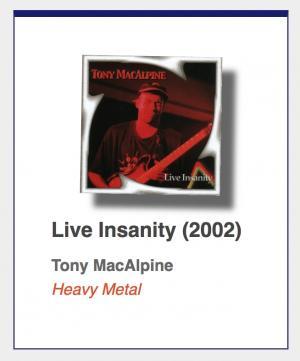 "#56: Tony MacAlpine ""Live Insanity"""