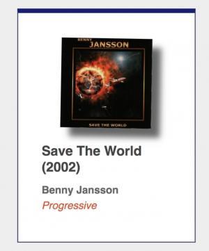 "#87: Benny Jansson ""Save The World"""