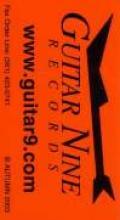 """Orange Guitar Nine Business Card"""