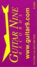 """Purple Guitar Nine Business Card"""