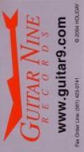 """Silver Guitar Nine Business Card"""