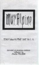 """Tony MacAlpine """"Live In L.A."""""""