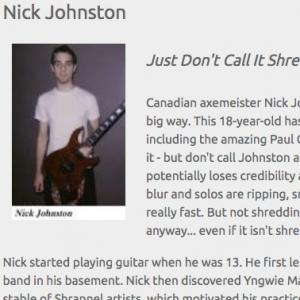 Nick Johnston: Just Don't Call It Shred (Apr 2006)