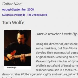 Tom Wolfe: Jazz Instructor Leads By Example (Aug 2000)
