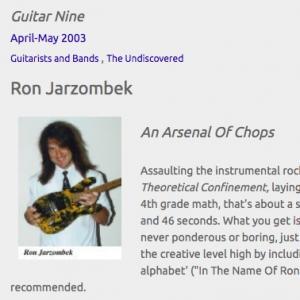 Ron Jarzombek: An Arsenal Of Chops (Apr 2003)