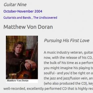 Matthew Von Doran: Pursuing His First Love (Oct 2004)
