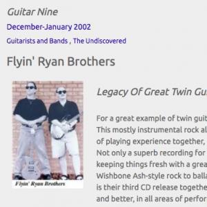 Flyin' Ryan Brothers: Legacy Of Great Twin Guitar Rock (Dec 2002)