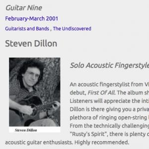 Steven Dillon: Solo Acoustic Fingerstyle Guitarist (Feb 2001)