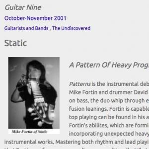 Static: A Pattern Of Heavy Progressive Fusion (Oct 2001)
