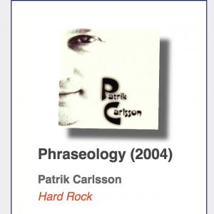 "Patrik Carlsson ""Phraseology"" CD"