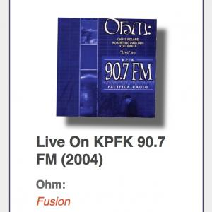 "OHM: ""`Live` On KPFK 90.7 FM"""